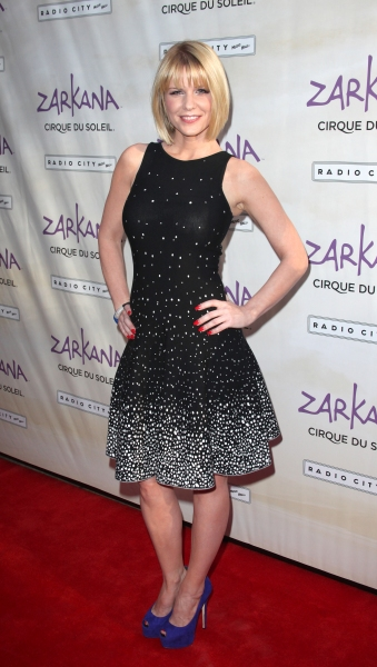 Carrie Keagan attending the Opening Night Performance of The New Cirque Du Soleil Acrobatic Spectacle 'Zarkana'  in New York City.