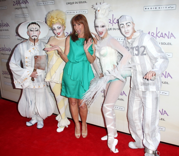 Jill Zarin and Characters of Zarkan attending the Opening Night Performance of The New Cirque Du Soleil Acrobatic Spectacle 'Zarkana'  in New York City.