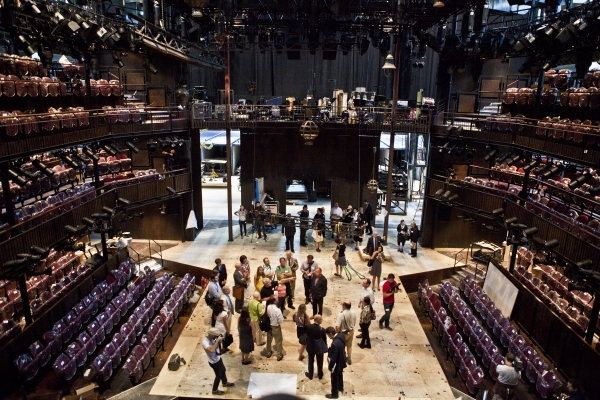 Photo Coverage: Replica of Royal Shakespeare Company's Scarlet & Gray Stage Revealed!