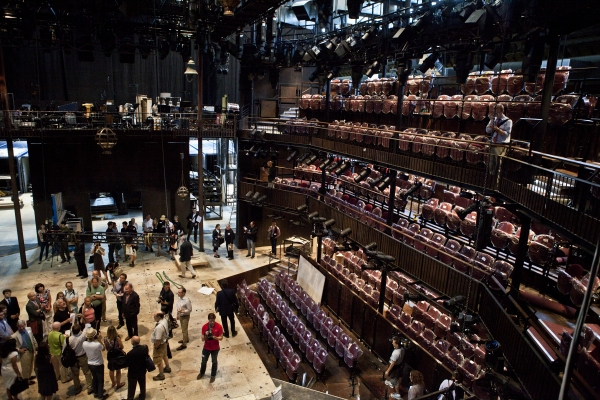 Photos: Replica of Royal Shakespeare Company's Scarlet & Gray Stage Revealed!