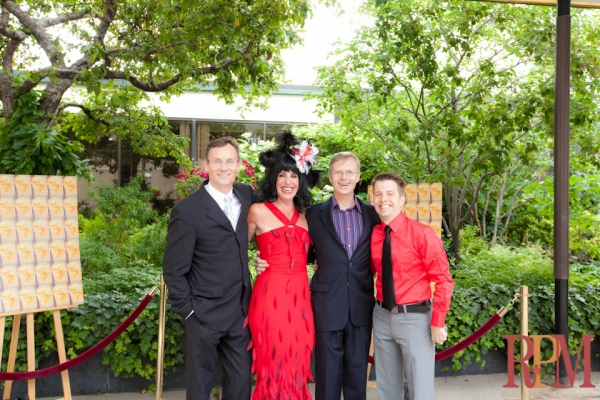 Red Carpet Host Elley-Ray Hennessy with Steve Cumyn, Greg Campbell and Colin Doyle