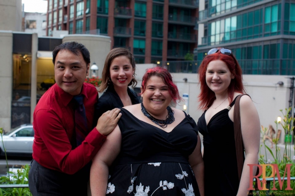 The Theatre Tweeters Arrive: Wayne Leung, Carly Maga, Megan Mooney and BWW's Kelly Cameron