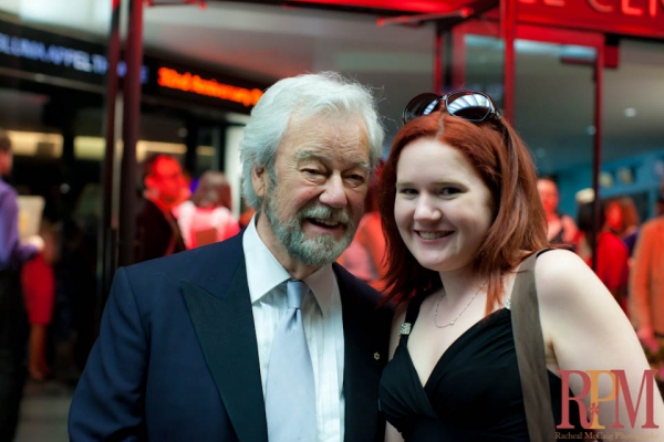 Gordon Pinsent with BWW's Kelly Cameron at The 2011 Dora Mavor Moore Awards