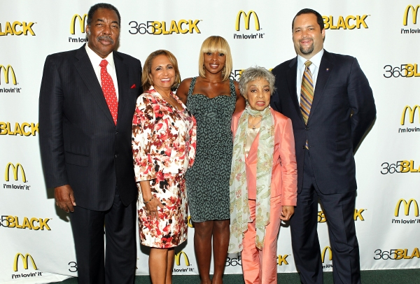 "365Black Award Honorees, Civil rights activist and McDonald's owner/operator Henry ""Hank"" Thomas, Radio One network founder Cathy Hughes, multi-platinum recording artist Mary J. Blige, legendary Broadway actress Ruby Dee and NAACPÃ'Â�® p"