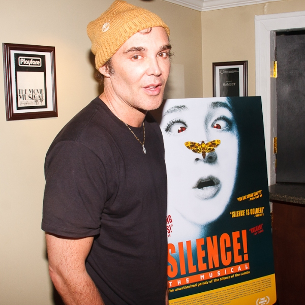David LaChapelle at SILENCE! The Musical Opening Night