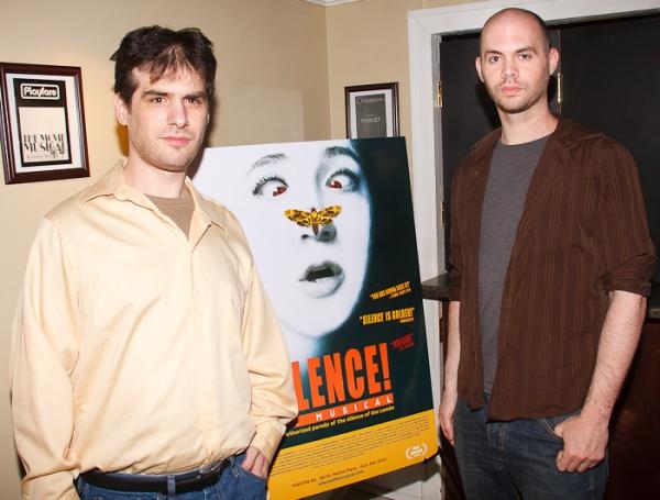 Jon Kaplan and Al Kaplan at SILENCE! The Musical Opening Night