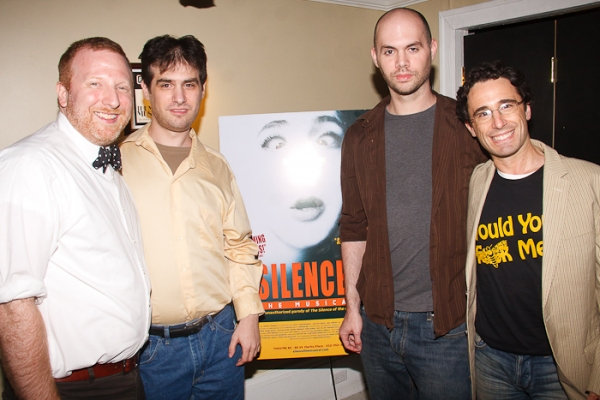 Hunter Bell, Jon Kaplan, Al Kaplan and Christopher Gattelli at SILENCE! The Musical Opening Night