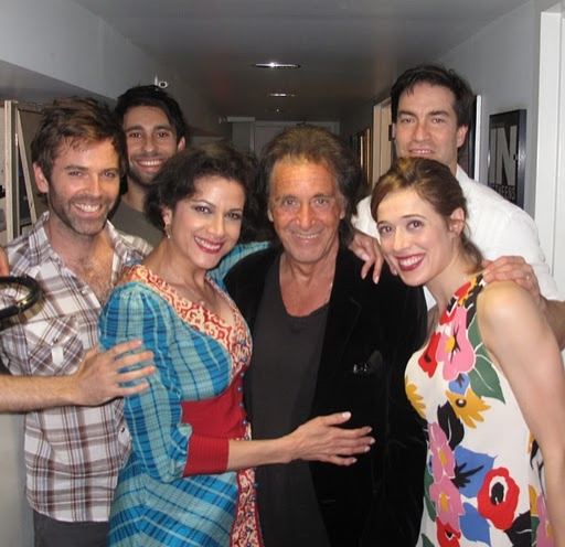 Brendan McMahon, Rafi Silver, Saundra Santiago, Al Pacino, Jeremy Stiles Holm, and Ma Photo