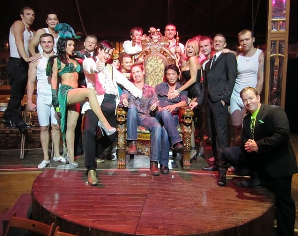 Photo Flash: Colin Cunningham and Peter Shinkoda Visit ABSINTHE