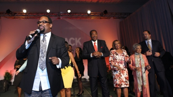 Gospel singing sensation and Grammy Award® winning recording artist Hezekiah Walker opens the 2011 McDonald's 365Black Awards show by leading the honorees and audience with an inspirational song.  Walker is currently headlining the national McDo