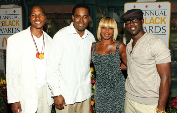 Actors Issac Keys, Lammar Rucker, Honoree Mary J. Blige and actor Lance Gross attends  the 8th Annual 365 Black Awards at the Ernest N. Morial Convention Center in New Orleans, LA on Friday July 1,2011.(AP Photo/ Donald Traill)