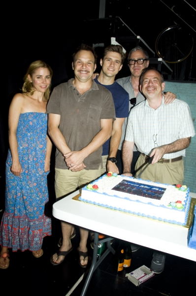 Photo Coverage: Linney, Lucci Celebrate CATCH ME IF YOU CAN's 100th Performance on Broadway!