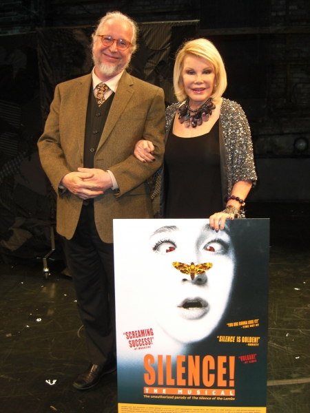 Joan Rivers with Theatre 80 Owner, LORCAN OTWAY, at SILENCE! The Musical.