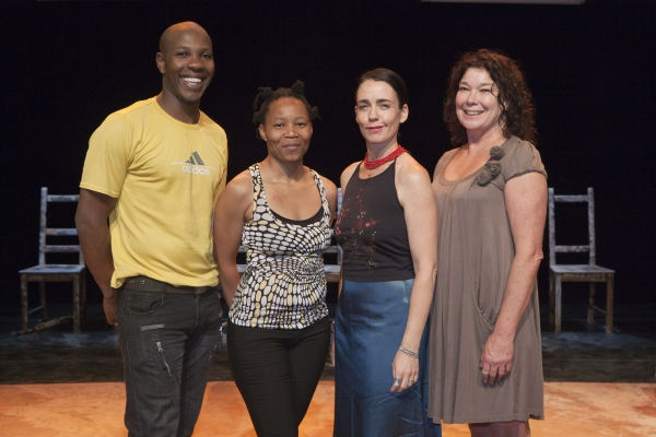(L-R): Sandile Matsheni, Jabulile Tshabalala, Yael Farber and Dorothy Ann Gould