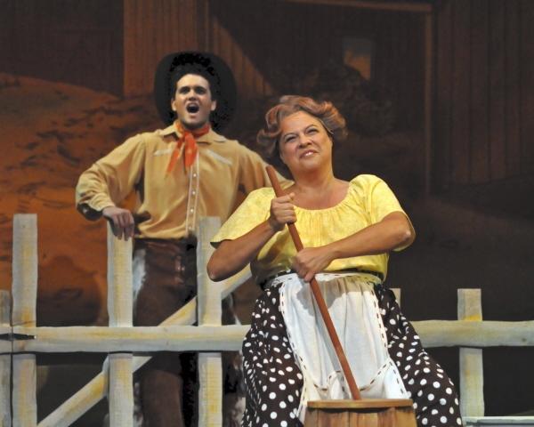 Stephen Mark Lukas and Ellen Peterson as Aunt Eller