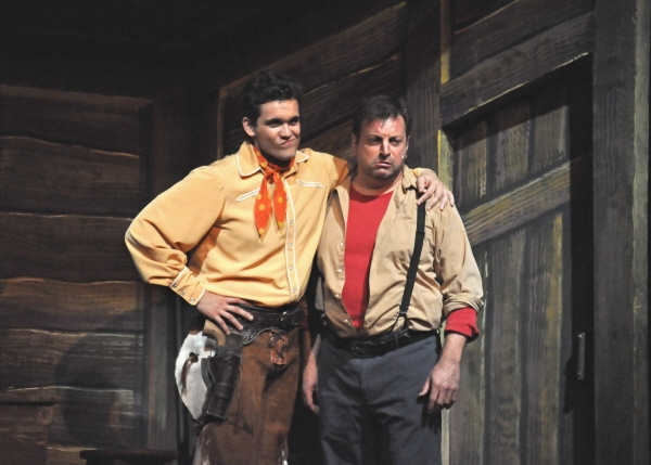 Stephen Mark Lukas and Doug Jabara as Jud Fry
