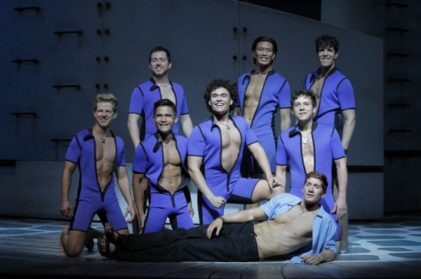 Jordan Dean and Company at MAMMA MIA's Current Broadway Cast in Action!