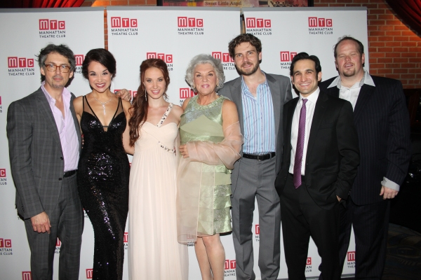 Stephen Wadsworth, Alexandra Silber, Sierra Boggess, Tyne Daly, Clinton Bradhagen, Jeremy Cohen and Garrett Sorenson at MASTER CLASS Opening Night Party!