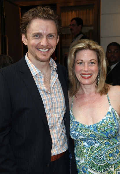 Jason Daniely & Marin Mazzie attending the Opening Night Performance of The Masnhattan Theatre Club's  'Master Class' at the Samuel J. Friedman Theatre in New York City. at MASTER CLASS Opening Night Arrivals!