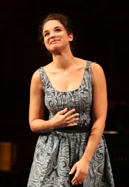 Alexandra Siber at the Opening Night Performance Curtain Call for The Manhattan Theatre Club's  'Master Class' at the Samuel J. Friedman Theatre in New York City.