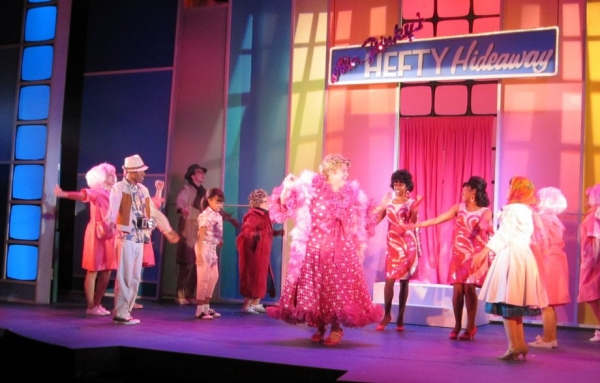 "Bill Evans and cast in ""Welcome To the 60's"""