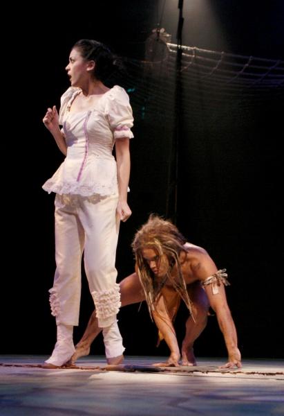 Andrea Goss (Jane) and Brian Justin Crum (Tarzan) at TARZAN Premieres at North Shore Music Theatre