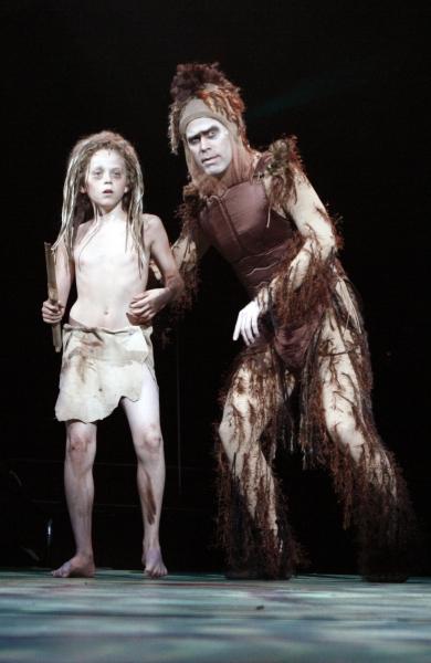 Giacomo Favazza (Young Tarzan) and Todd Alan Johnson (Kerchak)
