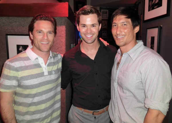 Mike Doyle, Andrew Rannells, Adrian Chang Photo