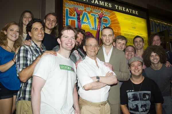 Swenson, Rory O'Malley, Joel Grey, Jordan Roth, Joshua Lamon with Broadway Impact