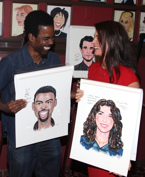 Chris Rock and Annabella Sciorra attending the celebration as Sardi's honors all five cast members from the Broadway production of 'The Motherf**ker with the Hat'  in New York City