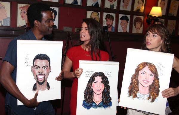 Chris Rock, Annabella Sciorra & Elizabeth Rodriguez attending the celebration as Sardi's honors all five cast members from the Broadway production of 'The Motherf**ker with the Hat'  in New York City at Sardi's Salutes THE MOTHERF**KER WITH THE HAT Cast - Complete Coverage!