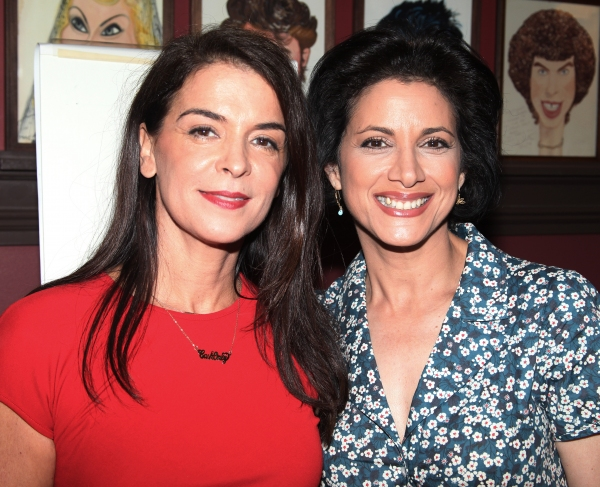 Annabella Sciorra & Saundra Santiago attending the celebration as Sardi's honors all five cast members from the Broadway production of 'The Motherf**ker with the Hat'  in New York City