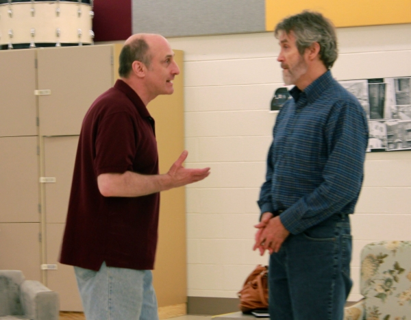 Philip Hoffman, Greg Bostwick at In Rehearsal with Hangar Theatre's EVER SO HUMBLE