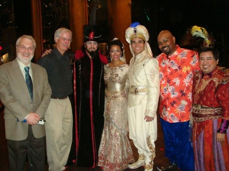Ron Clements, John Musker, Courtney Reed and the Cast of ALADDIN