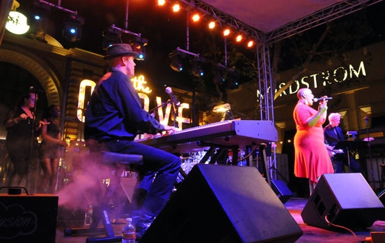 Todd Schroeder and Frenchie Davis performs at The Grove Summer Concert Series