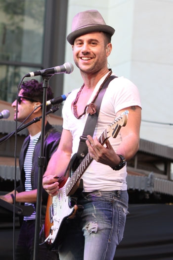 Michael Bruno and Jason Rosen perform with their band Honor Society at The Grove Summer Concert Series
