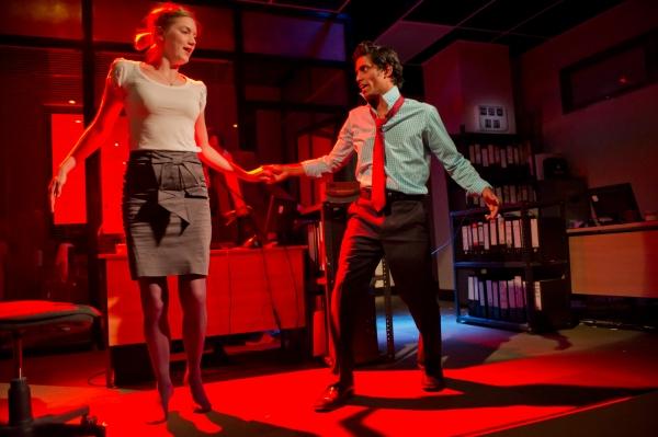 Robyn Addison as Marie and Shane Zaza as Elvis.