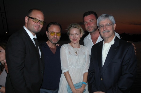Chris Bauer, Fisher Stevens, Naomi Watts, Liev Schreiber and Frank Filipo at Bay Street Theatre Celebrates ROCK THE DOCK Summer Gala Benefit