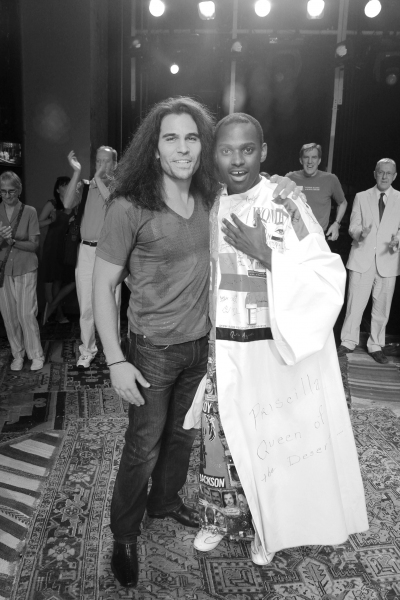 Steel Burkardt & Arbender Robinson  celebrating the Opening Night Gypsy Robe Ceremony for Recipient Arbender Robinson in 'Hair' at the St. James Theatre  in New York City.