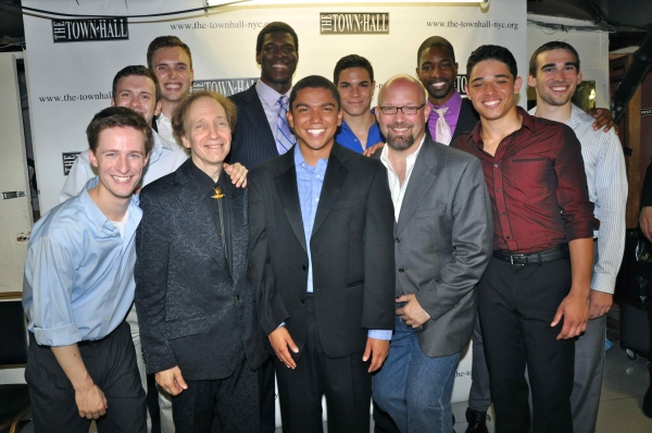 Scott Siegel, Scott Coulter with the men of tonight's show- Kiarri D. Andres, Graha Bailey, Alex Goley, Jason Gotay, Tristan Morris, Kevin Mueller, Paul Pontrelli, Anthony Ramos Martinez and Kyle Scatliffe