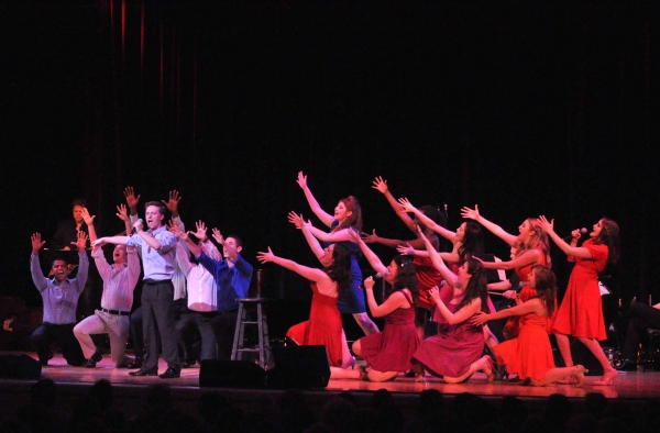 Alex Goley and the company at Broadway's Rising Stars 2011