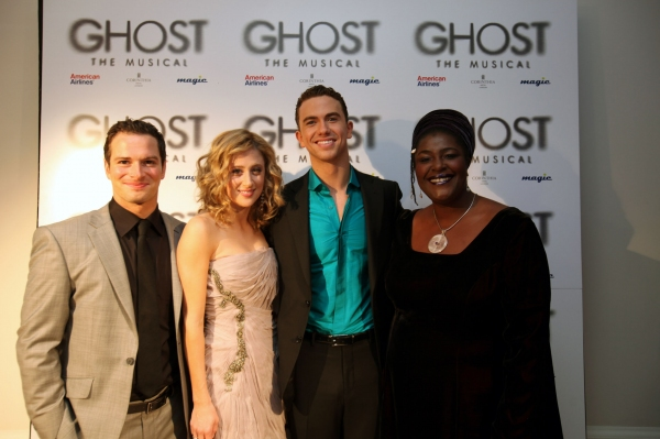 Andrew Langtree, Caissie Levy, Richard Fleeshman and Sharon D. Clarke  at GHOST THE MUSICAL Opening Night Red Carpet!