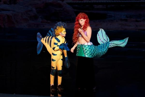 Payton Kemp (Flounder) and Michelle Pruiett (Ariel)