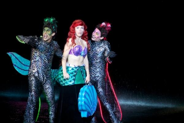 Joey Tierno (Jetsam), Michelle Pruiett (Ariel), Matt Densky (Flotsam)