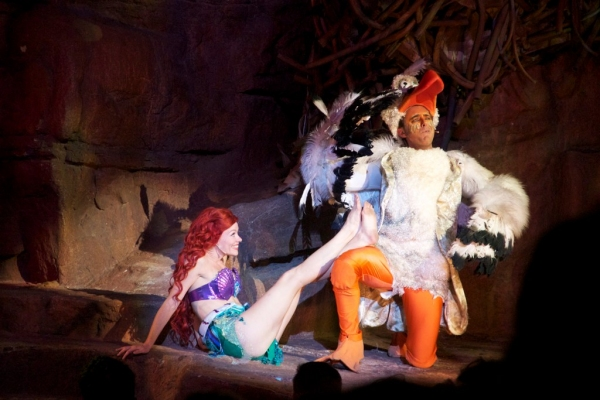 Michelle Pruiett (Ariel), Vincent D'Elia (Scuttle) at Tuacahn Center's THE LITTLE MERMAID