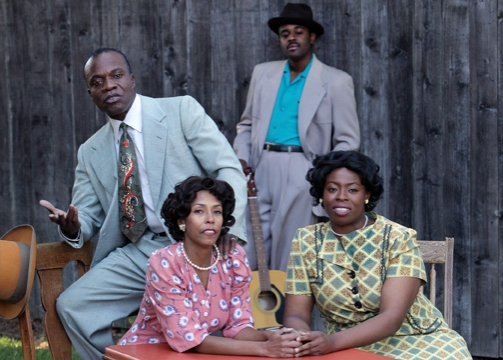 L. Peter Callender (Red Carter), Margo Hall (Louise), Tobie Windham (Floyd) and Omoze Idehenre (Vera)