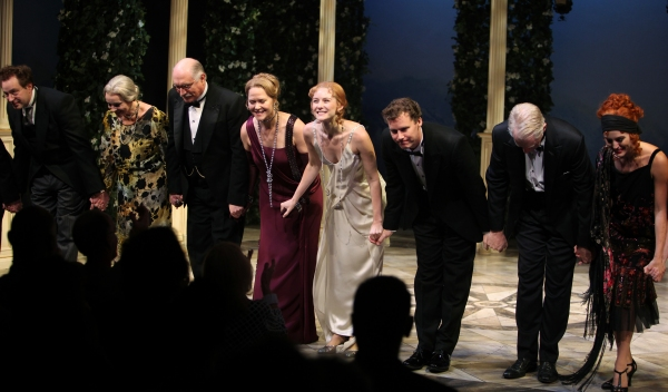 Don Stephenson, Linda Balgord, Simon Jones, Rebecca Luker, Jill Paice, Kevin Earley, Michael Siberry & Mari Davi during the Roundabout Theatre Company's Opening Night Curtain Call for 'Death Takes A Holiday'  in New York City.