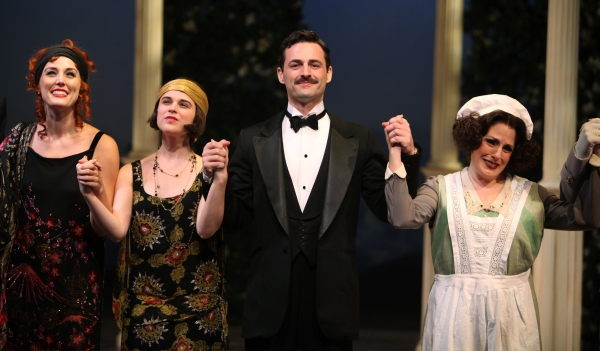 Mara Davi, Alexandra Socha, Max Von Essen, Joy Hermalyn during the Roundabout Theatre Company's Opening Night Curtain Call for 'Death Takes A Holiday'  in New York City.