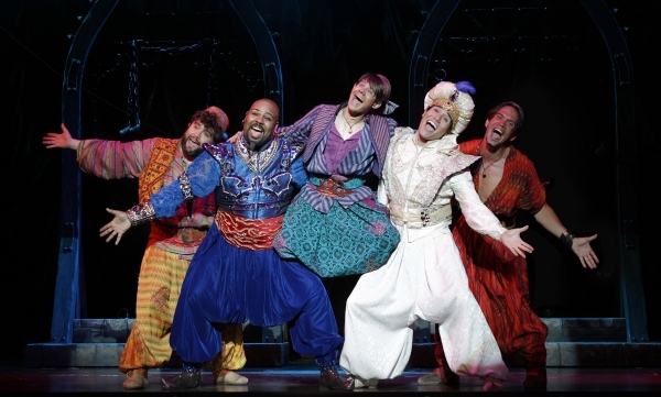 Brian Gonzales, James Monroe Iglehart, Andrew Keenan-Bolger, Adam Jacobs, and Brandon Photo