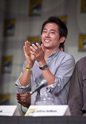 Steven Yeun at WALKING DEAD At Comic Con